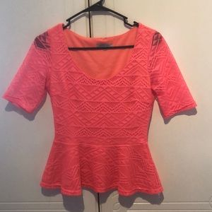Coral Charlotte Russe Shirt